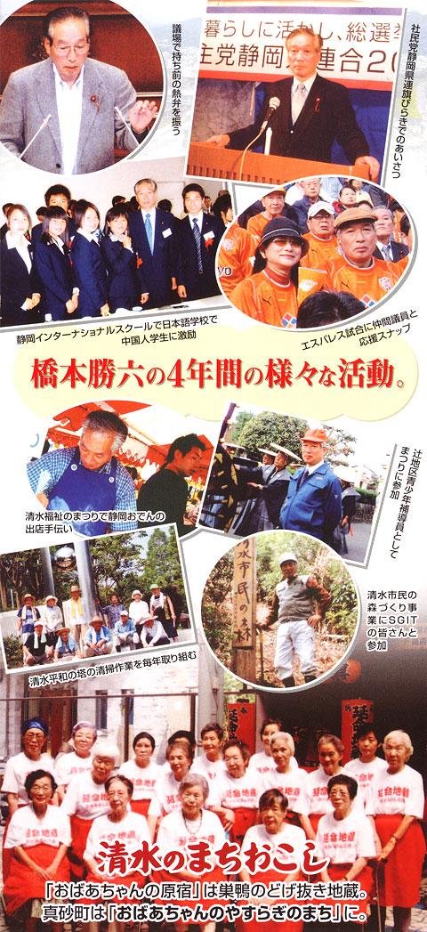 橋本勝六の4年間の活動